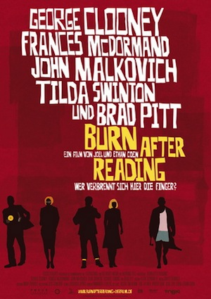 Beste Gute Filme: Filmplakat Burn After Reading