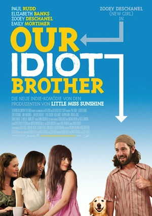 Beste Gute Filme: Filmplakat Our Idiot Brother