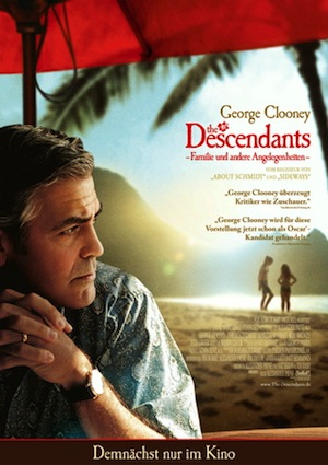 Beste Gute Filme: Filmplakat The Descendants