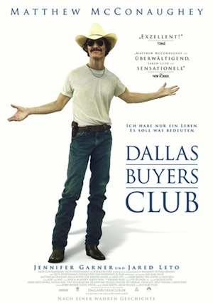 Beste Gute Filme: Filmplakat Dallas Buyers Club