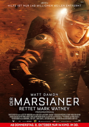 Filmplakat Der Marsianer - rettet Marc Wathney